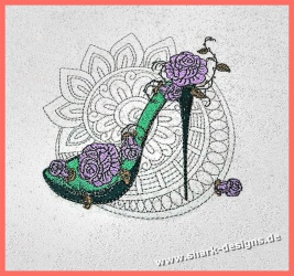 Stickdatei Rosen-High Heel,...