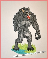 Embroidery file werewolf in...