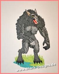 Stickdatei Werwolf in 9...
