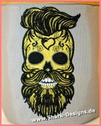 Stickdatei Yuppie-Skull in...