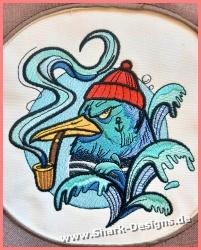 Embroidery file seagull...