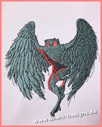 Embroidery file Mothman in...