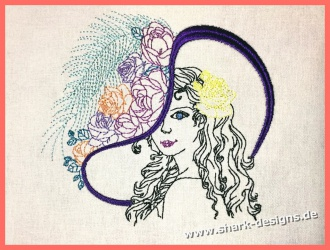 Embroidery Design Lady Rose...
