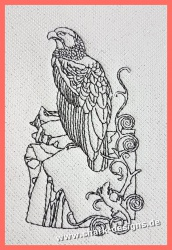 Embroidery file hawk in 8...