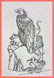 Stickdatei Falke in 8 Größen