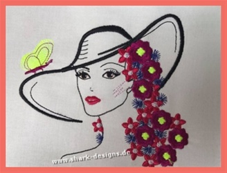 Embroidery Design Lady...