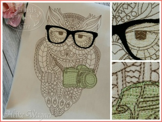 Embroidery Design Photo Owl...