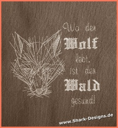 Embroidery Design Wolf 1...