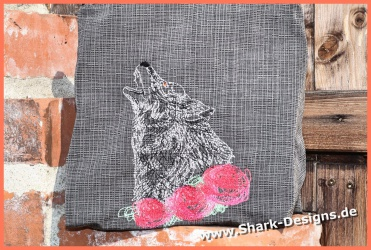 Embroidery Design Wolf-3 -...