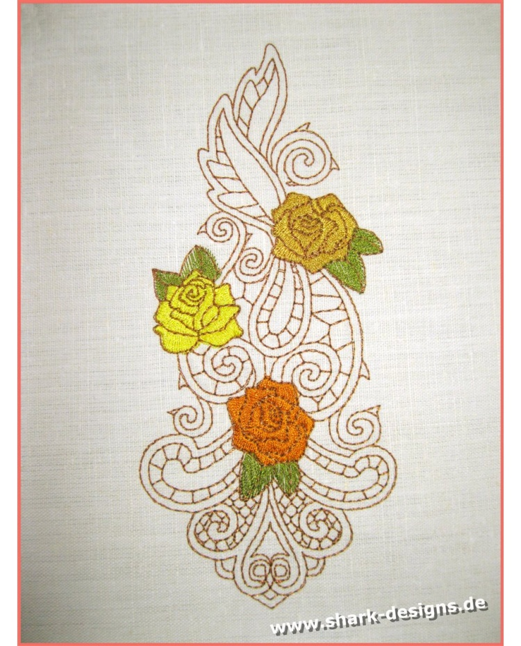Embroidery Design Rose Zen in 6 sizes