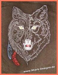 Embroidery Design Wolf-4 in...