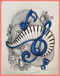 Embroidery Design La Musica...