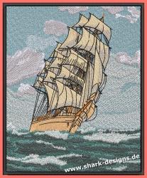 Stickdatei Sailing 7 Größen