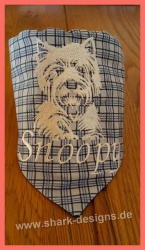 Embroidery design Westie -...