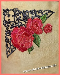 Stickdatei Rose antique in...