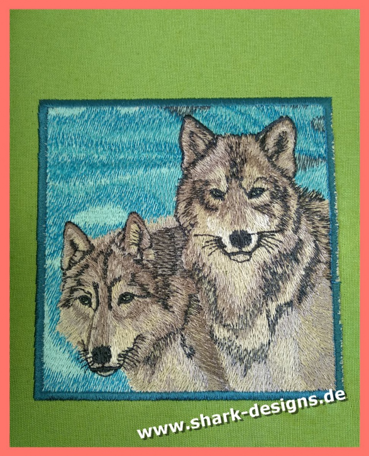 Embroidery file wolves, 2...