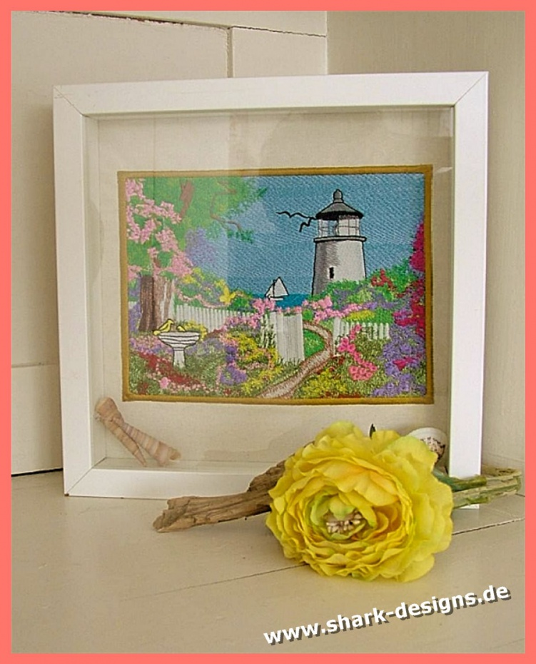 Embroidery file lighthouse,...
