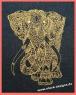 Stickdatei Line Art Elefant, ein grauer Riese in 7 Größen