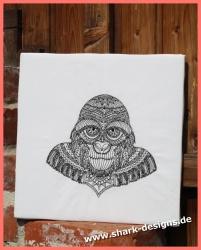 Line Art Gorilla mit 2...