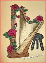 Embroidery Design Harp in 9...