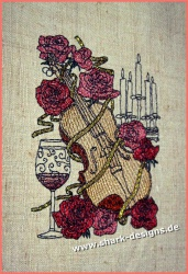 Embroidery Design Violin in...