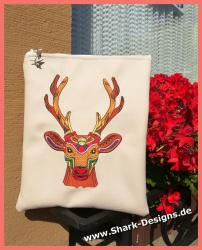 Ethnic Deer, in boho strong...