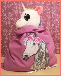 Embroidery file rose horse...