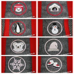 Embroidery files set Winter...