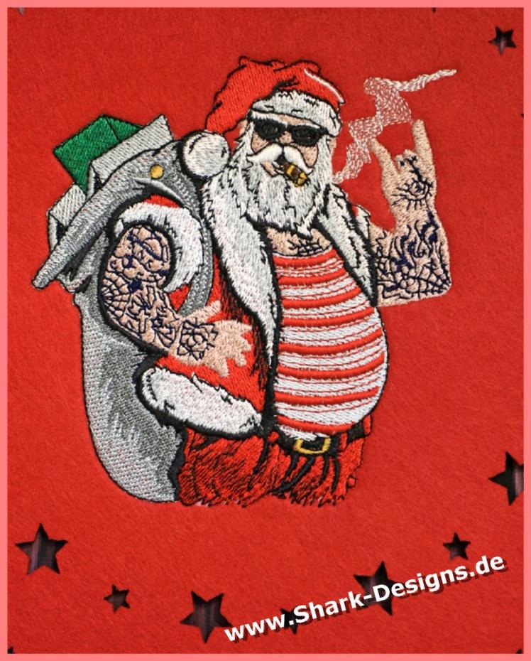 Embroidery file Santa rocks...