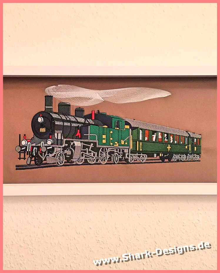 Embroidery file train, an...