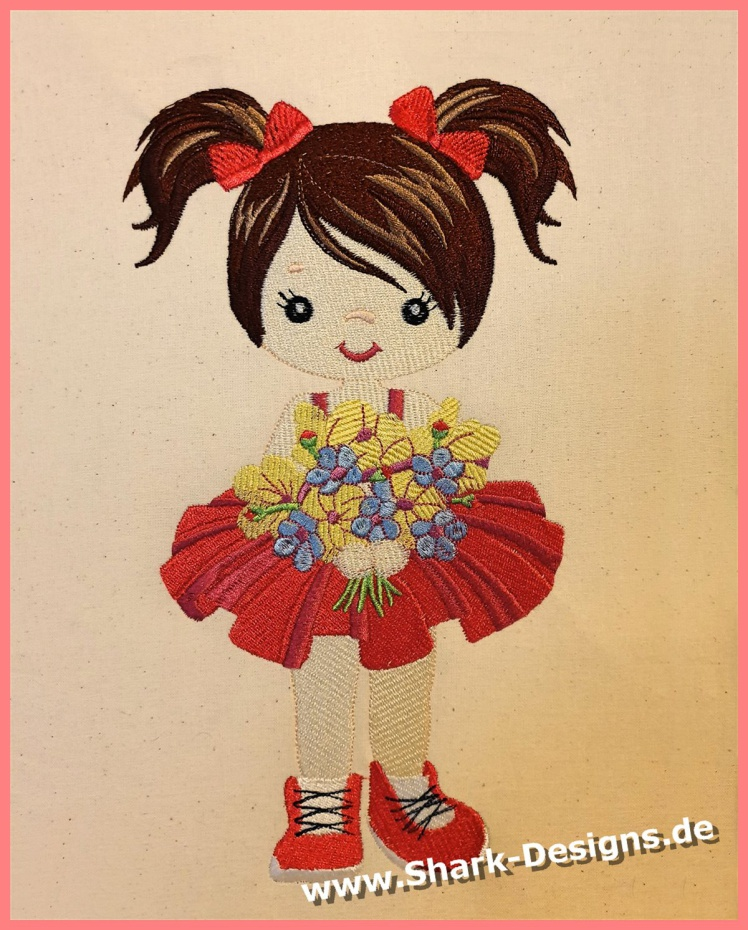 Embroidery file flower...