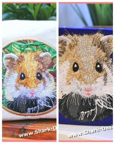 Hamster embroidery file in...