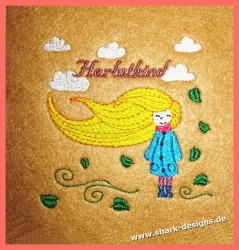 Embroidery motif Autumn Child
