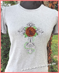 Cross Rose embroidery file...