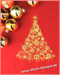 Embroidery file Golden Xmas...