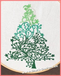 Embroidery file star tree...