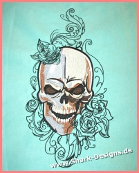 Embroidery file Metal Skull...