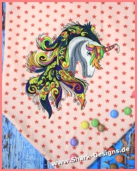 Embroidery file unicorn in...