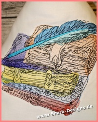 Embroidery file Old Books,...