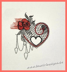 Embroidery Design Web Heart...
