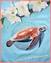 Embroidery file Turtle in 8...