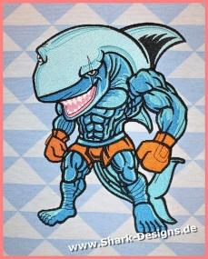Stickdatei Boxing Shark 7...