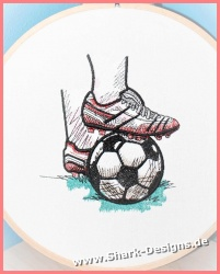 Embroidery file Soccer in 9...