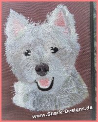 Embroidery file Westie in 7...