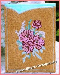 Stickmotiv Burgundy Flowers...