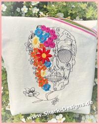 Stickdatei Floral Skull in...
