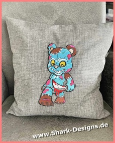 Embroidery file zombie bear...