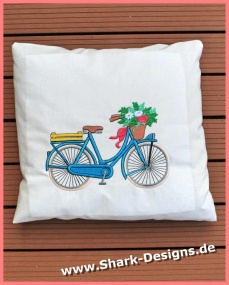Embroidery file bicycle in...
