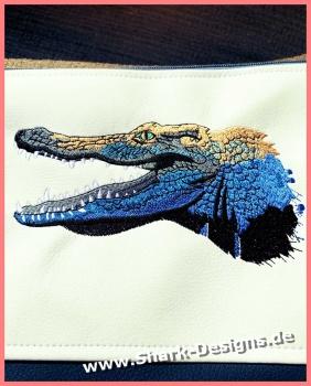 Embroidery file crocodile,...