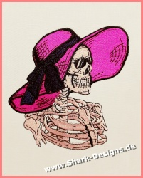 Embroidery file Skull Woman...